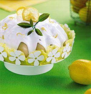 Citronkage med marcipan og kandiseret citron