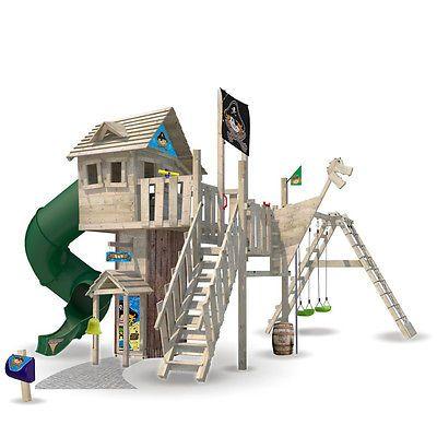 details zu wickey neverland baumhaus spielturm spielhaus kletterturm stelzenhaus rutsche. Black Bedroom Furniture Sets. Home Design Ideas