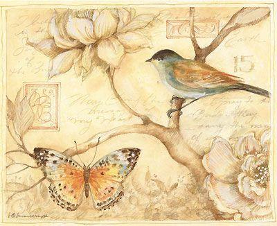 Brown bird butterfly:
