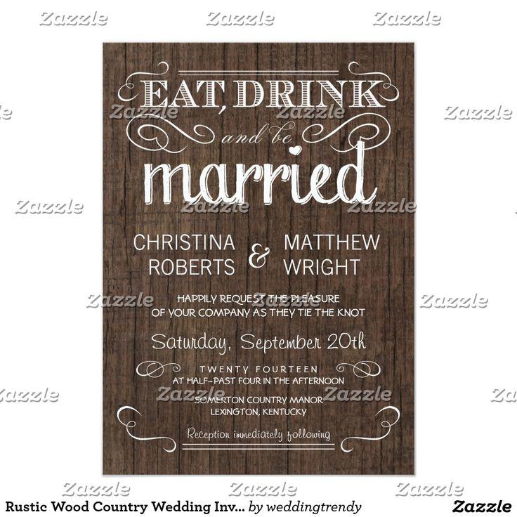 Rustic Wood Country Wedding Invitations #rustic #wood #country #wedding # Invitations