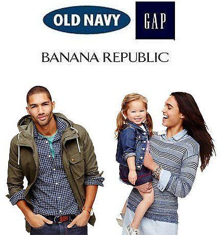 40% Off + Free Shipping on $25 at Banana Republic, Gap & Old Navy