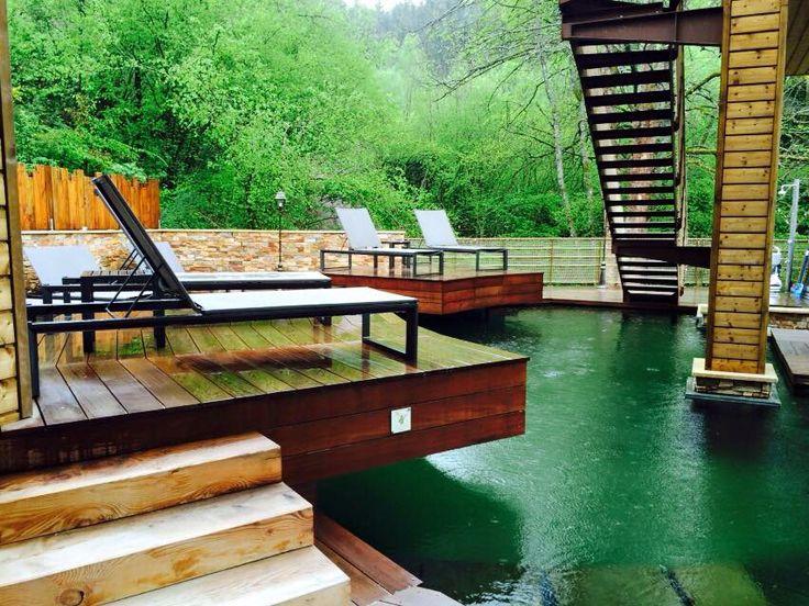 Vue sur piscines