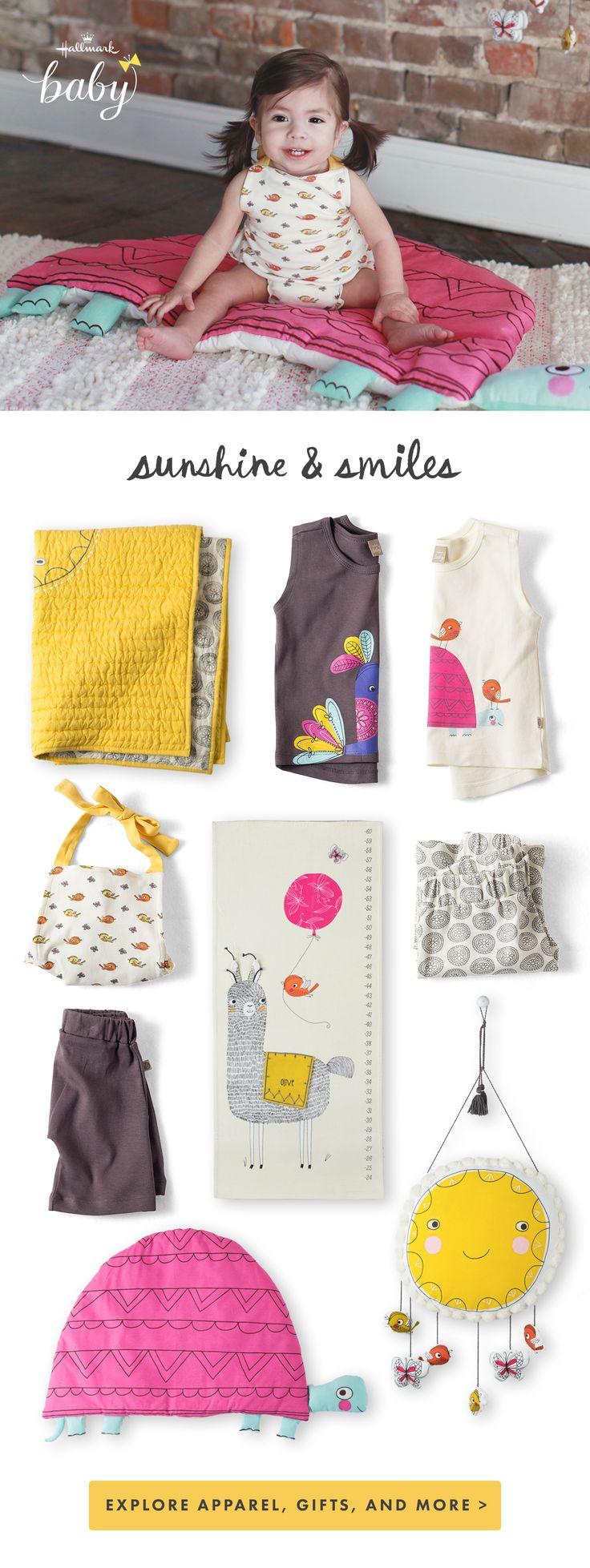 Bright & Sunny Baby Outfits & Nursery Decor - Explore Hallmark Baby's Sunny Day Collection!