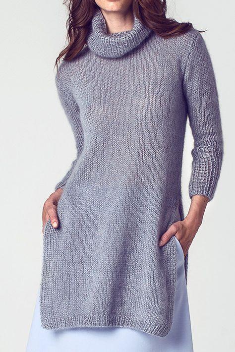 Lässig zu tragen, leicht zu stricken: Tunika - kostenlose Strickanleitung.