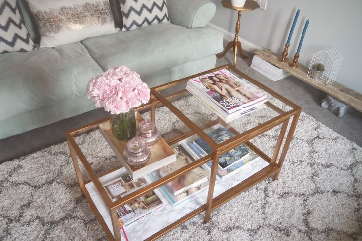 IKEA HACK: A Gold & Marble Coffee Table | Georgi A
