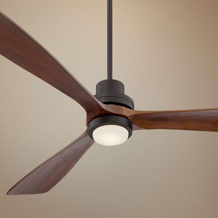 """Large Ceiling Fan Light: Casa Delta-Wing XL™ LED Ceiling Fan - 66"""" Bronze"""