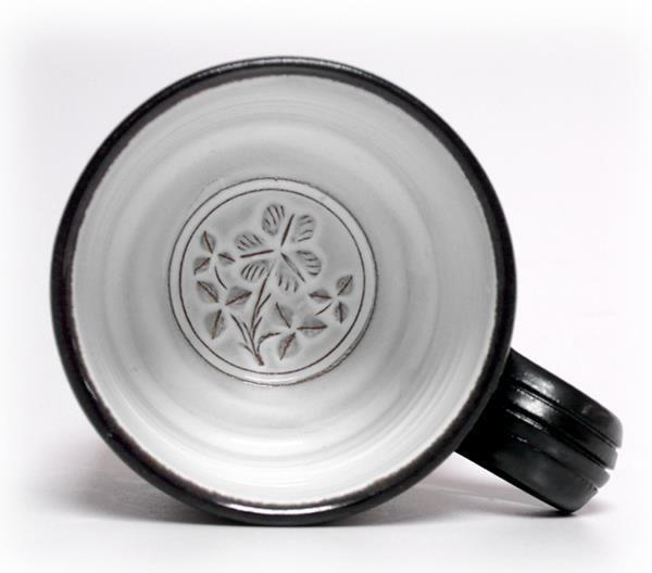 Shamrock mug by Stephen Pearce Pottery.