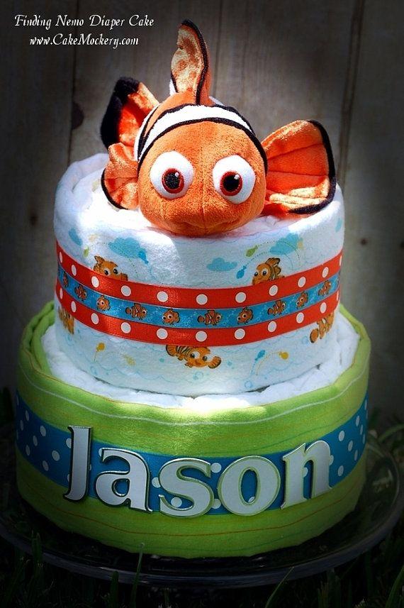 Finding Nemo Diaper Cake by CakeMockery on Etsy, $65.00