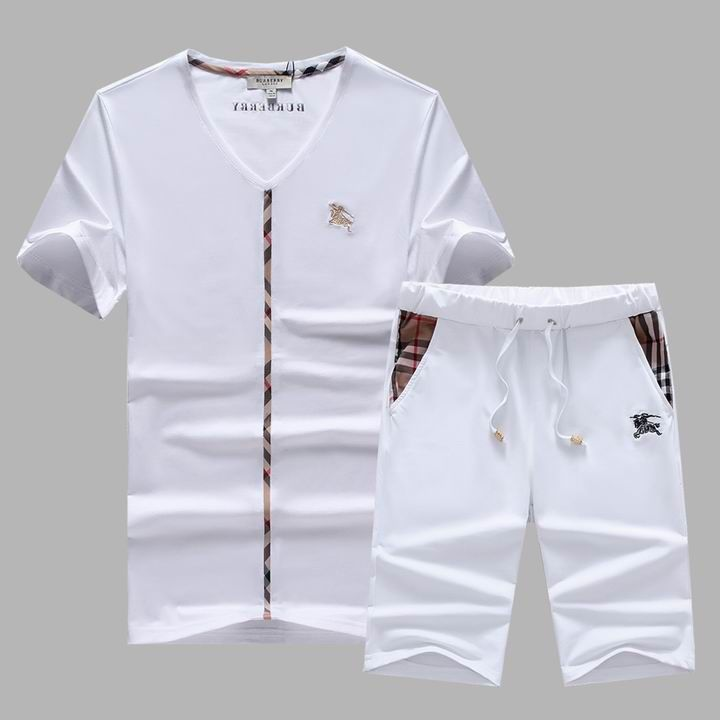 Gocgt Mens Tracksuit Short-Sleeve Top Shorts Summer Sport Suit 2 Piece Sets