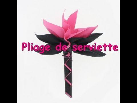 ▶ Tuto pliage de serviette palmier - YouTube
