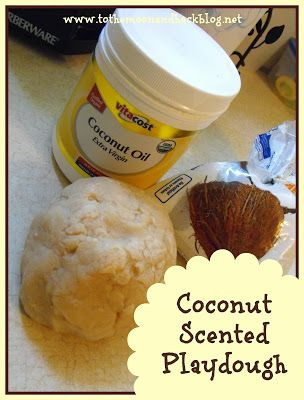To the Moon and Back: The ABCs of Scented Playdough---C is for Coconut Scented Playdough {Bee Crafty Kids #29}