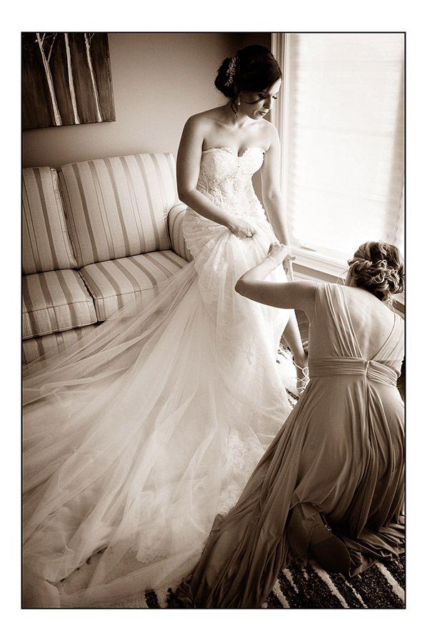 wedding photography of a bride home