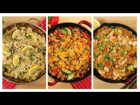 3 Healthy One Skillet Quinoa Recipes   Dinner Made Easy - YouTube