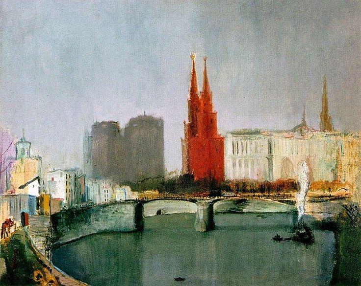 Москва-река. 1933 Александр Николаевич Козлов (1902-1946)