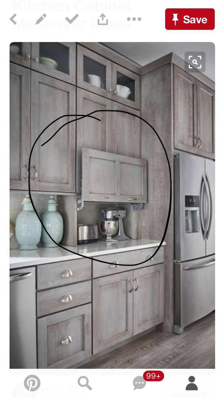 10 Kitchen And Home Decor Items Every 20 Something Needs: Want This! Hidden Appliance Nook For Kitchen. I Would Put