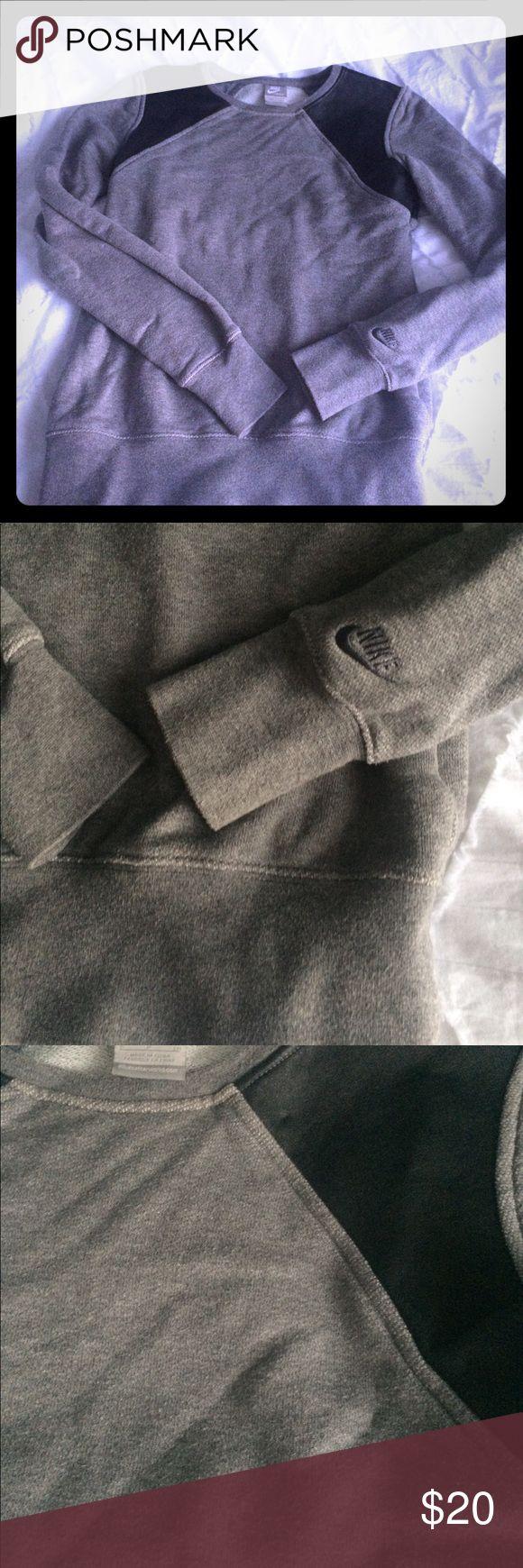 Nike x Stella McCartney collab Vegan leather inset on grey sweatshirt by Stella Mc Cartney for Nike Nike Sweaters Crew & Scoop Necks