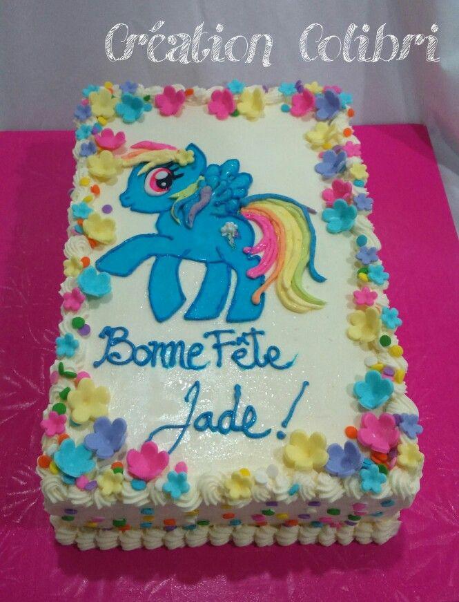 Gâteau petite pouliche. My little pony cake.