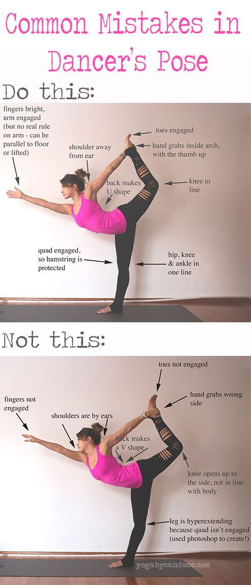 Pin now, practice later! Common mistakes in Dancer's pose.