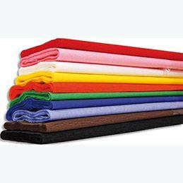 Papier crépon 40g - crêpé à 60% - 200 x 50 cm - coloris assortis - paquet de 10 feuilles