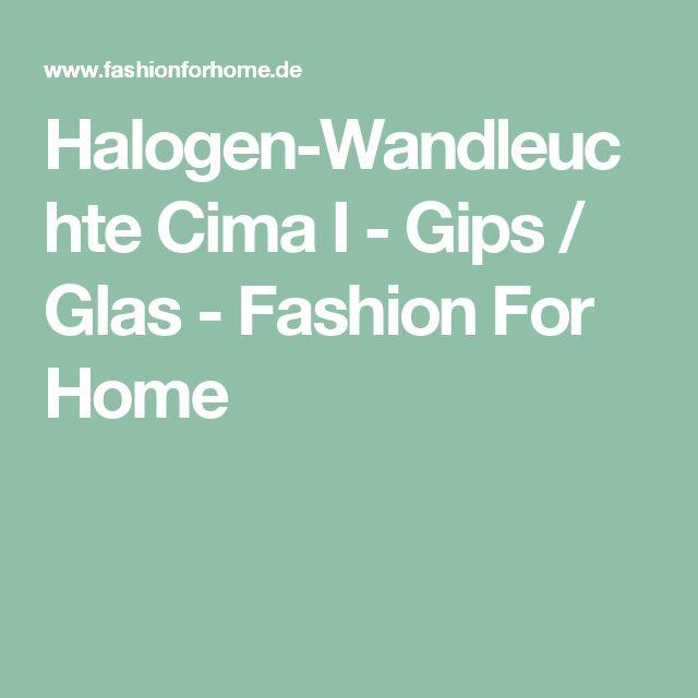 Halogen-Wandleuchte Cima I - Gips / Glas - Fashion For Home