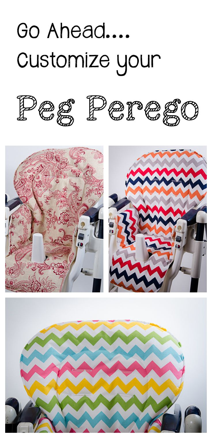 Handmade and stylish replacement high chair covers for Peg Perego high chairs. www.sewplicity.com    Covers For: Pre 2000 models,  Prima Pappa, Best, Diner