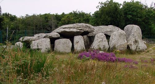 The Kermario Dolmen at Carnac, Brittany, Northern France. The more than 3,000 prehistoric standing stones were hewn from local rock and erected by the pre-Celtic people of Brittany, and are the largest such collection in the world. The stones were erected at some stage during the Neolithic period, probably around 3300 BC, but some may date to as old as 4500 BC.