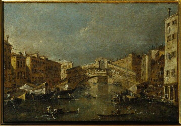 Il ponte di Rialto. 1780. Accademia Carrara di Bergamo