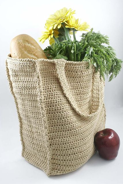 Knitting Pattern Grocery Bag : 17 Best images about knit & crochet [bag,case,cover] on ...