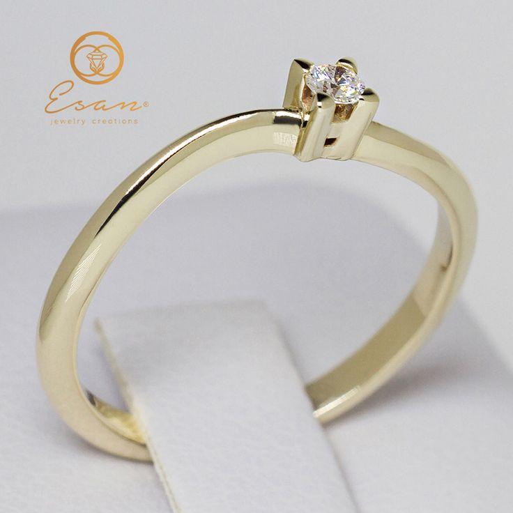 Inel de logodna cu diamant model solitaire ES33
