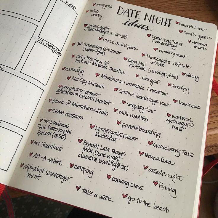 Made A List Of Date Night Ideas In My #bulletjournal Wait