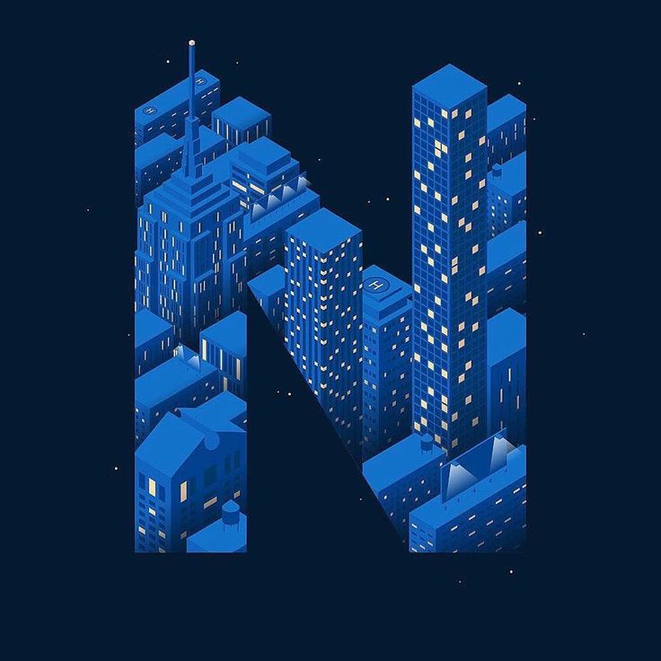 """1,699 Likes, 2 Comments - @36daysoftype on Instagram: """"#N is for night by @matvoyce"""""""