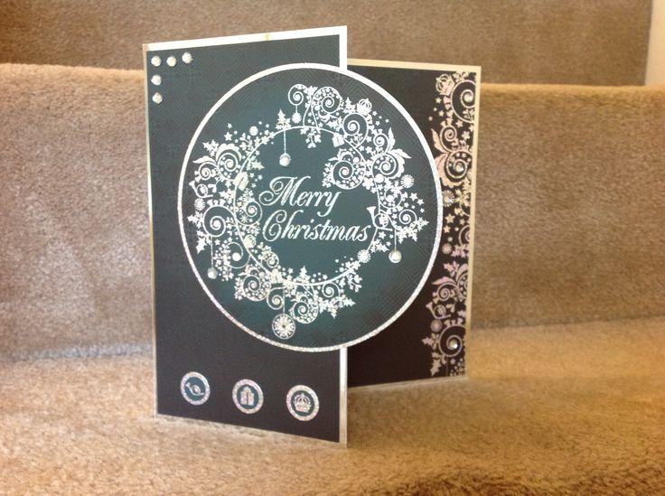 Christmas card with hunkydory range.