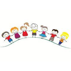 [フリーイラスト素材] イラスト, 人物, 子供, 集団 / グループ, 手をつなぐ, 共同体 / コミュニティ, EPS ID:201407130300