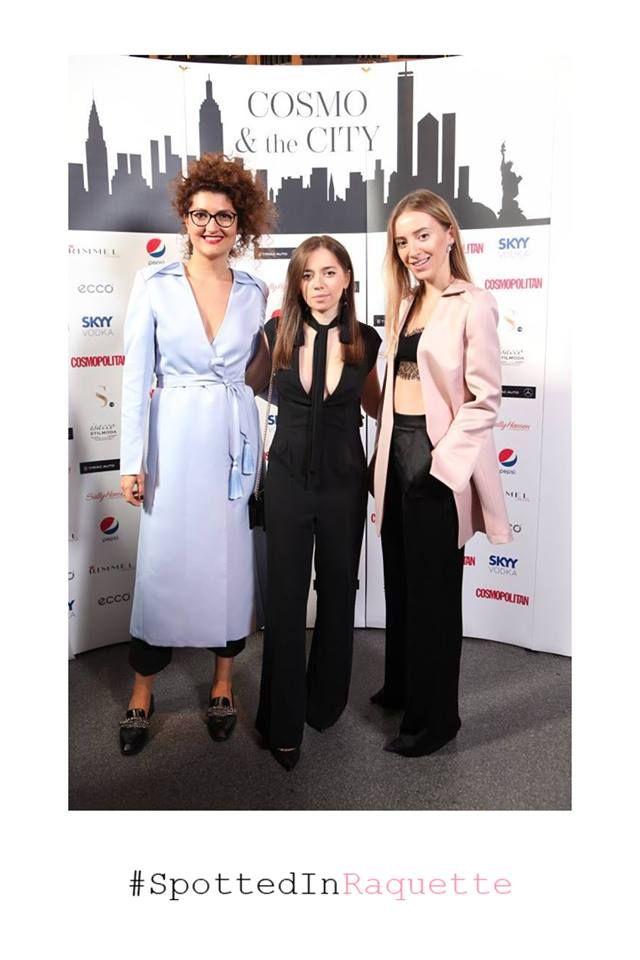 Alexandra Caspruf & #RaquetteSisters, Dana & Violette all spotted in Raquette at Cosmopolitan Romania 17 year anniversary party