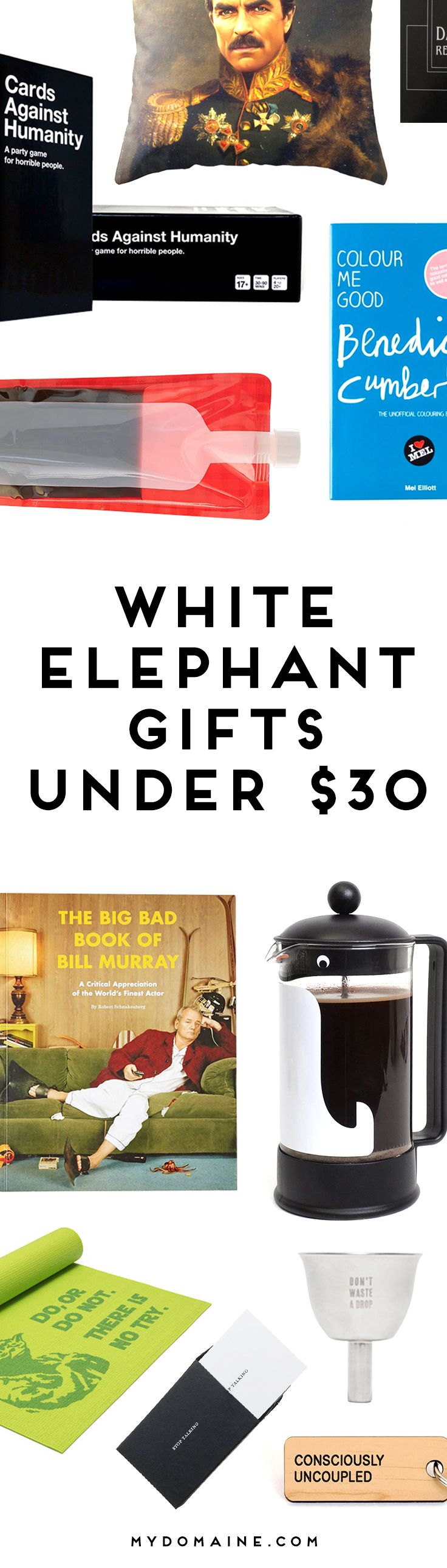 Step up your white elephant gift giving skills