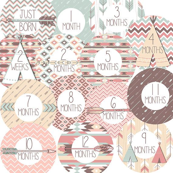 14 Aztec Tribal Arrows TeePee Chevron Patterns by DoucetteDesign, $9.00