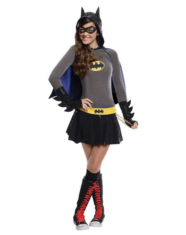 batwoman halloween costume for tweens | Batgirl Hoodie Girls Costume | Halloween | Pinterest ...
