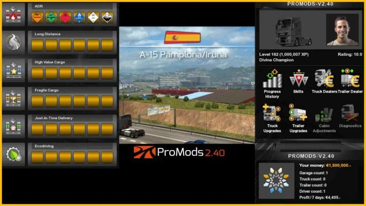 ETS2 - Profile For Promods V2 40 (1 34 x) Download | ETS2