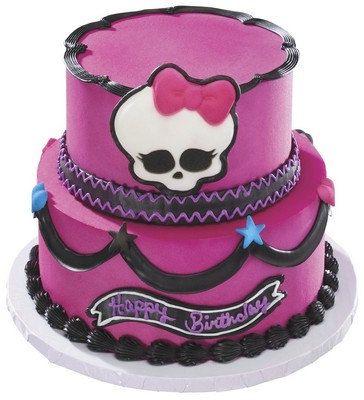 Monster High Skullette and Hearts Edible Sugar Cake Kit.