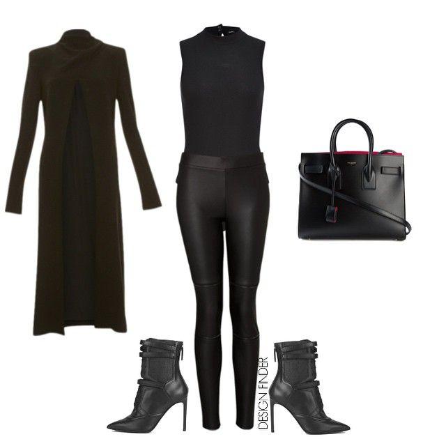 """Fierce! Design Find: coat @willow_ltd $900, bodysuit @bardot $45, pants @witcheryfashion $100, boots @hugoboss $730, bag @ysl • Direct links on blog -…"""