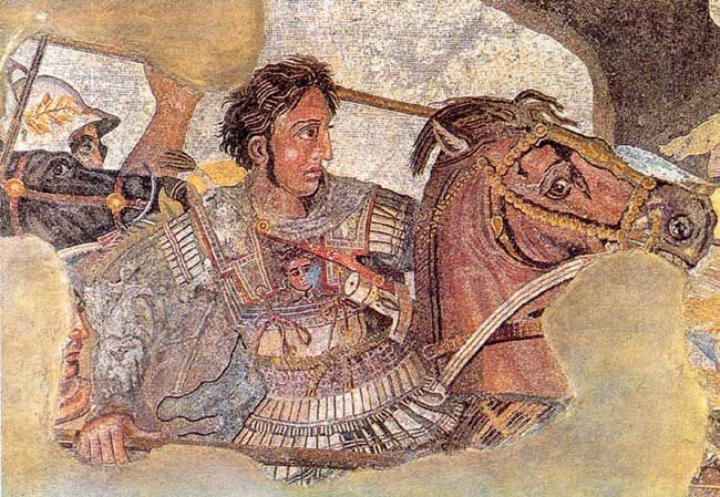 Detail from the Alexander mosaic. From the House of the Faun, Pompeii, ca. 80 BCE. CREDIT: National Archaeologic Museum, Naples, Italy