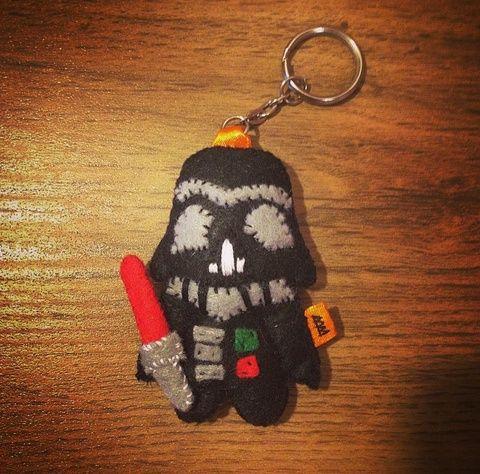 Darth Vader filc kulcstartó/táskadísz (BeuArt) - Meska.hu
