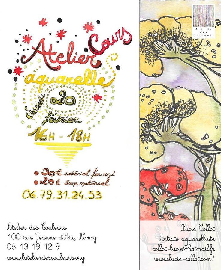 Initiation à l'aquarelle par Lucie Collot Aquarelliste à l'Atelier Des Couleurs à Nancy.