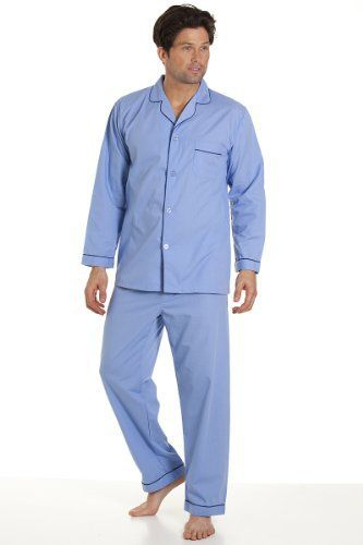 Haigman Mens Nightwear Long Sleeve Pyjama Suit With Trousers, Blue Extra Large Fibre Content: 65% Polyester & 35% CottonTop Chest PocketElasticated WaistSoft & ComfortableMachine Washable  Blouses, coats, hoodies, nightwear, Shirts, t-shirts for womens, Tops, vest top womens