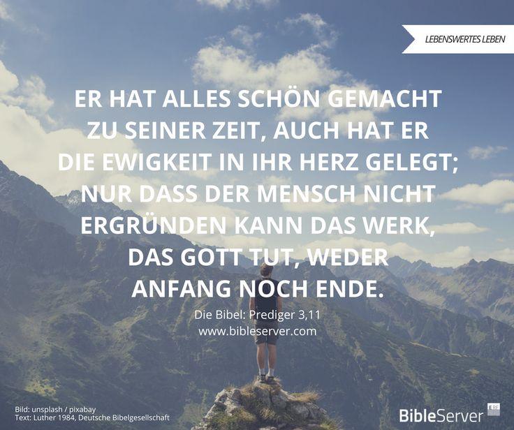 Die Sehnsucht nach Gott in dir - die hat Gott selbst in dich hineingelegt. | Bibelvers nachlesen in Prediger 3,11 auf #BibleServer