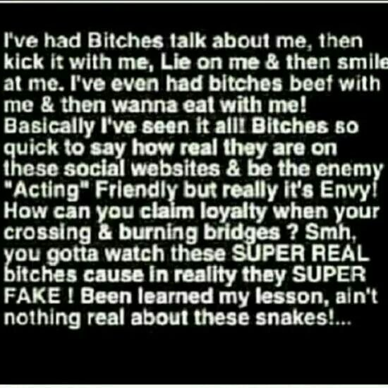 YUP!!! And yall females know EXACTLY who you are!!!  Amen so true #fake #bitches #quote