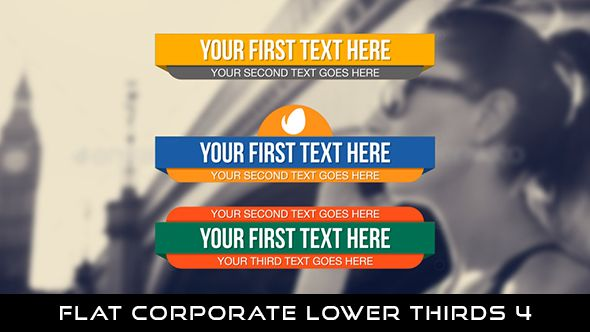 Flat Corporate Lowerthird 4  9 Lowerthirds | Full HD 1920×1080 | Quicktime PNG alpha codec | Each 10 seconds.  Download it here : https://videohive.net/item/flat-corporate-lower-thirds-4/20059310  If you love my work, don't forget to rate it. Thank you.  #envato #videohive #motiongraphic #aftereffects #lowerthirds #broadcast #caption #color #corporate #elegant #flat #modern #presentation #professional #simple #television #text #title #youtube