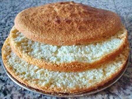 Reţetă blat de tort   o cana faina  5 oua  3/4 cana zahar  5 linguri ulei  5 linguri apa  un pliculet praf de copt  un praf sare  o lingurita esenta (dupa preferinte)  pentru blatul de tort cu cacao:  o lingura cacao  2 linguri nuca macinata (optional)