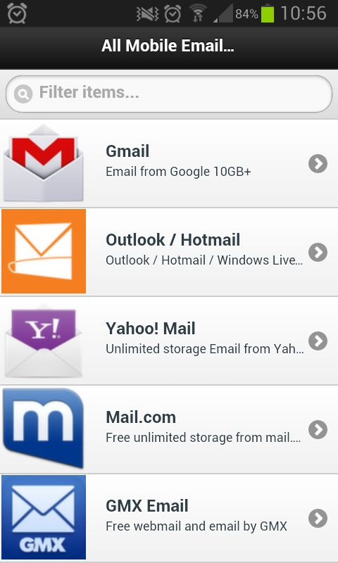 All Email Providers - email app for android