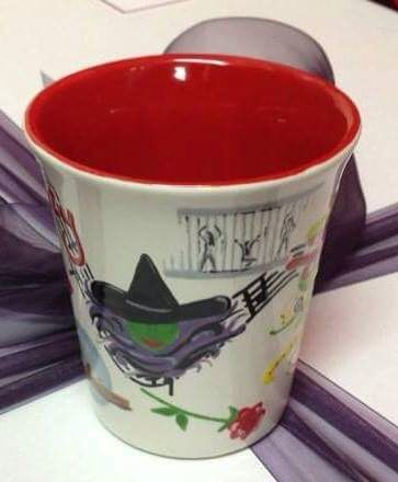 'Encore'- commissioned mug for the director of a Musicals themed variety show.  A Chorus Line, Chicago, Little Shop of Horrors, Spamalot, The Lion King, The Phantom of The Opera, The Rocky Horror Show